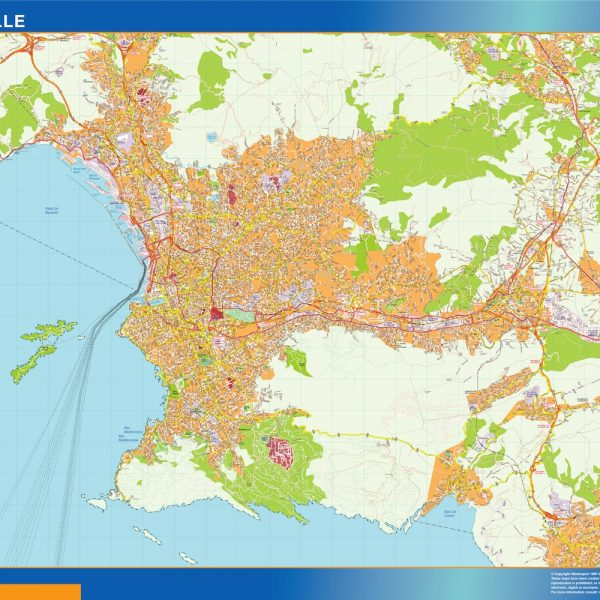 marseille wall map