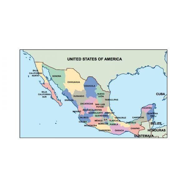 mexico presentation map