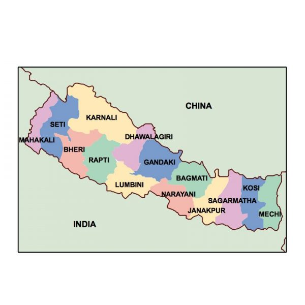 nepal presentation map