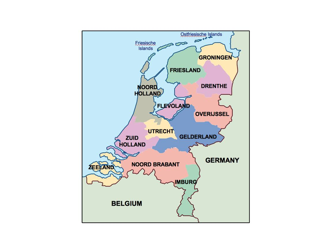 Image of: Netherlands Presentation Map Vector World Maps