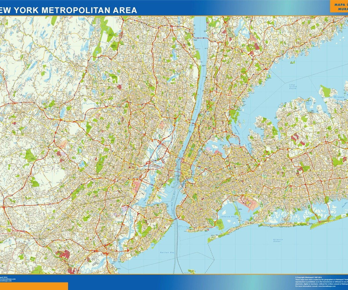 new york metropolitan wall map | Vector World Maps City Map Of New York on