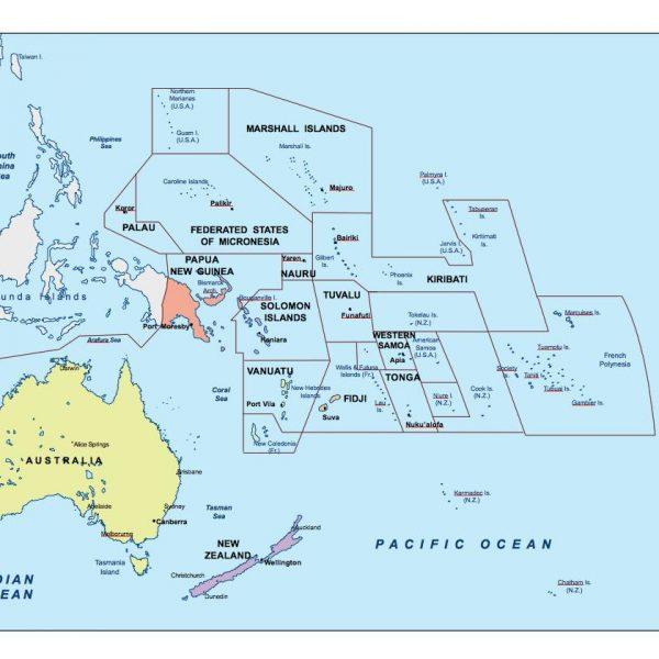 oceania presentation map