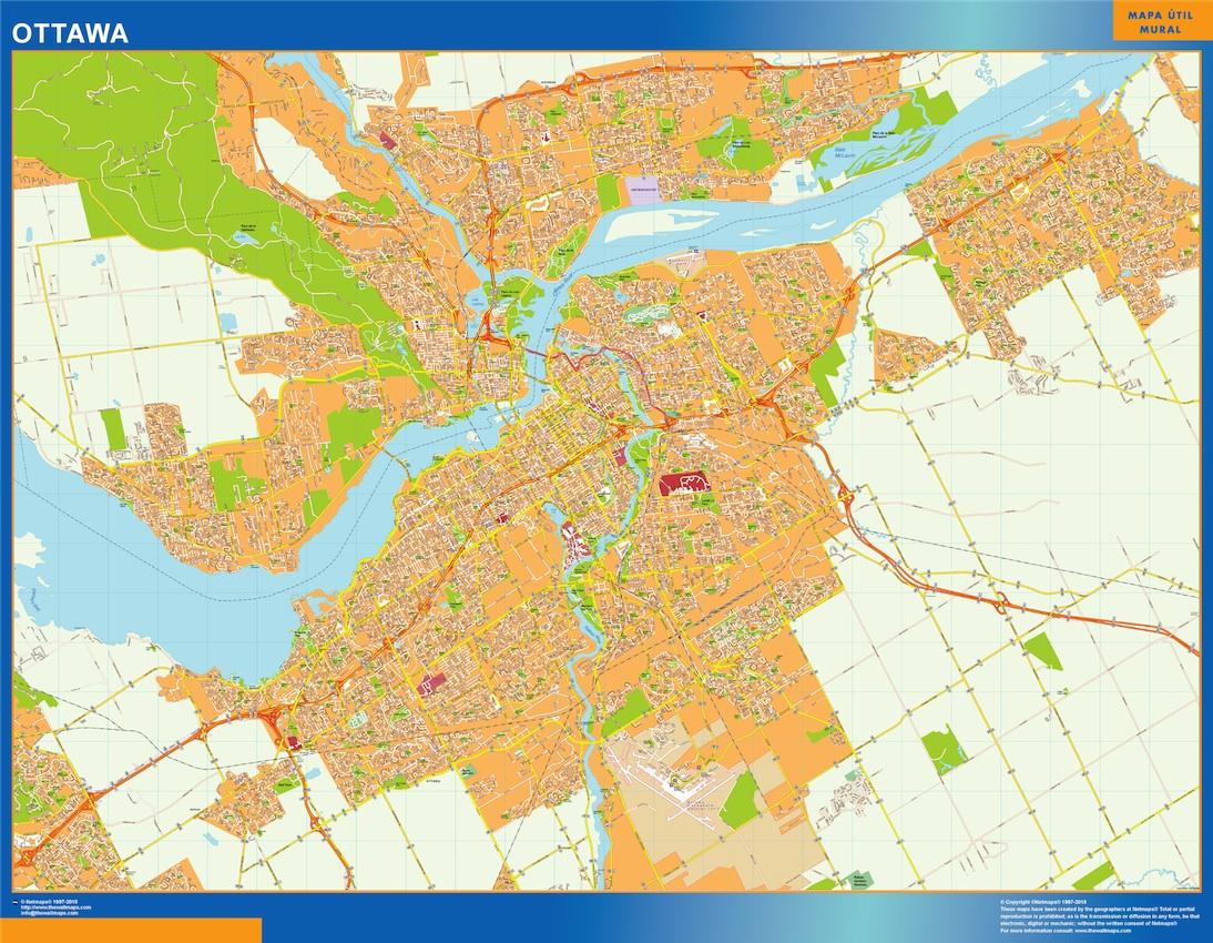 Ottawa Wall Map Vector World Maps