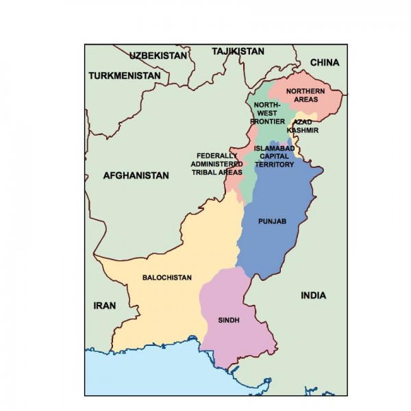 pakistan presentation map