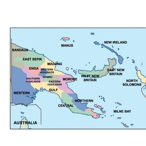 papua new guinea presentation map
