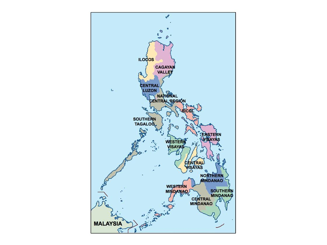 philippines presentation map   Vector World Maps