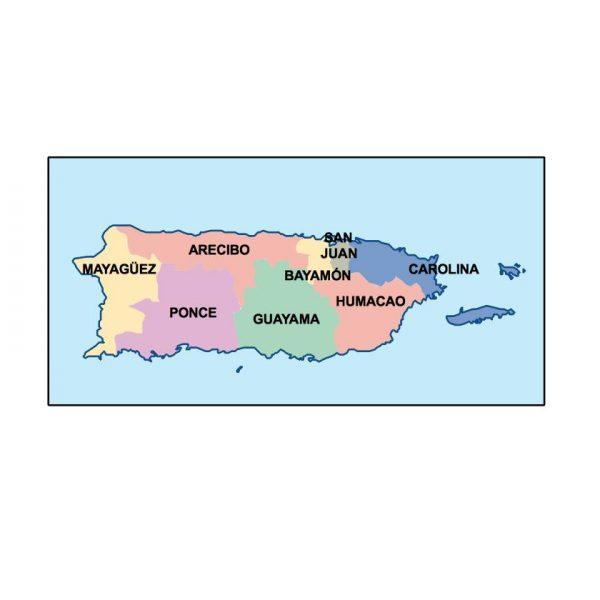 puerto rico presentation map