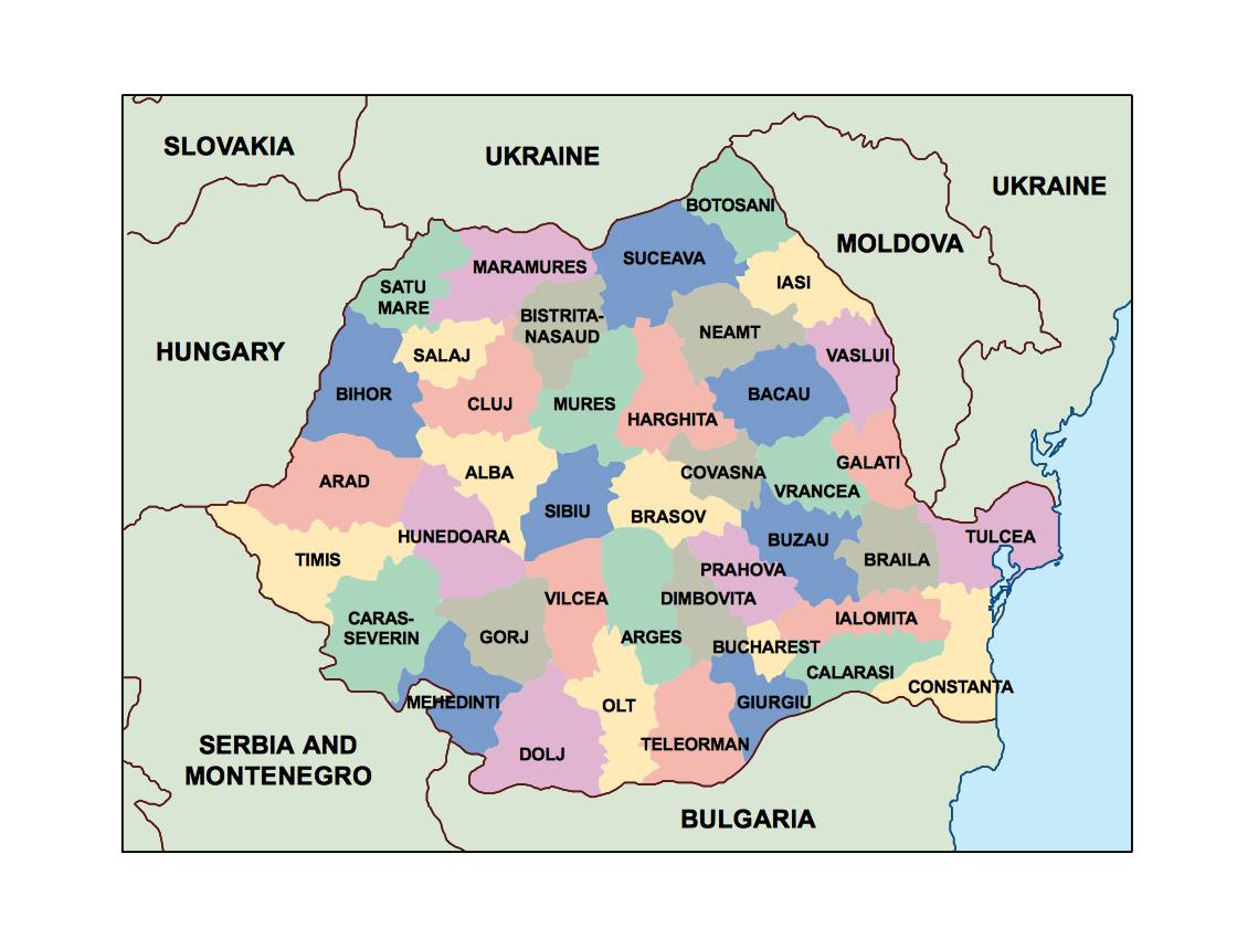 romania presentation map Our cartographers have made romania
