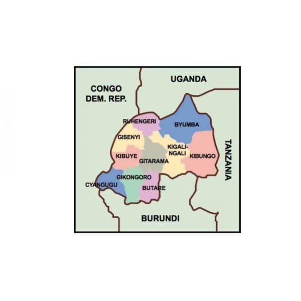 rwanda presentation map