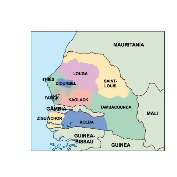 senegal presentation map