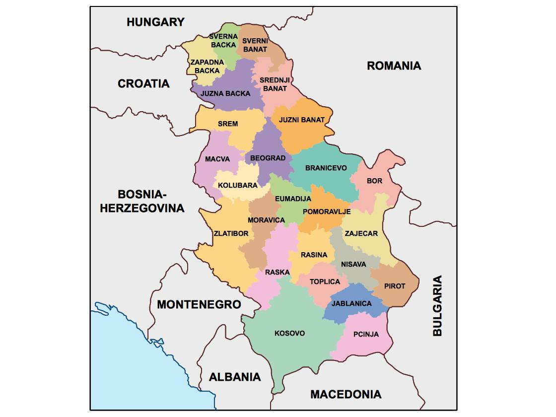 serbia presentation map Our cartographers have made serbia