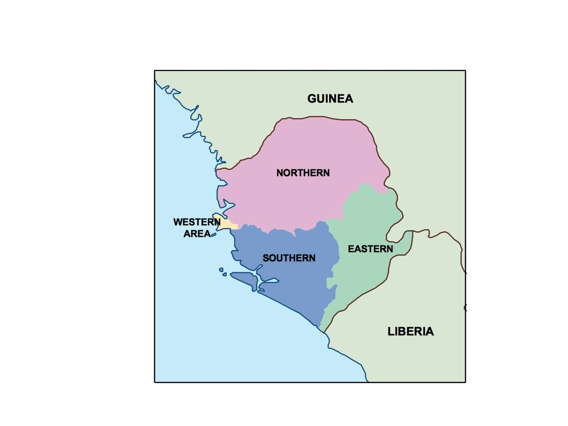 Sierra Leone Presentation Map Vector World Maps
