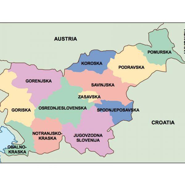 slovenia presentation map