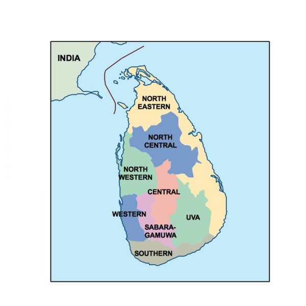 Sri Lanka Presentation Map Vector World Maps