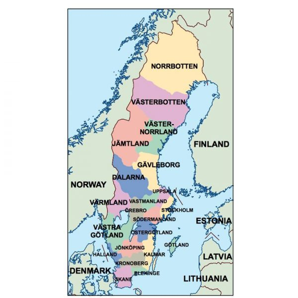 sweden presentation map