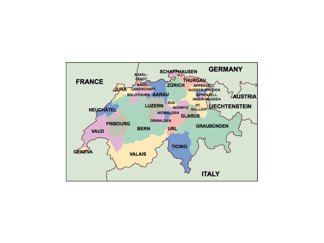 switzerland presentation map Our cartographers have made