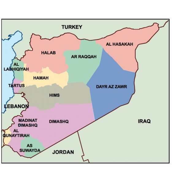 syria presentation map