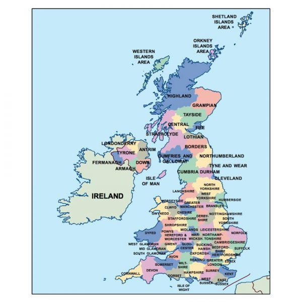 united kingdom presentation map