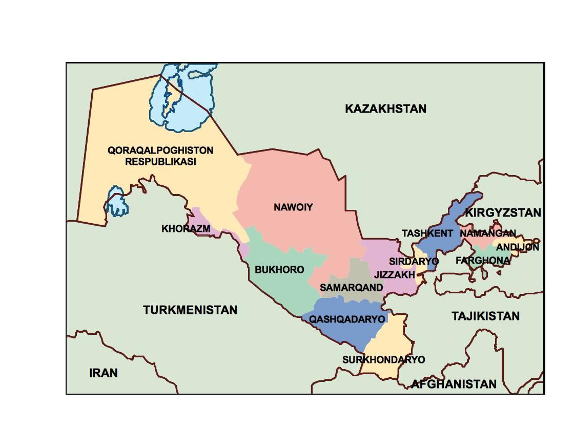 Image of: Uzbekistan Presentation Map Vector World Maps