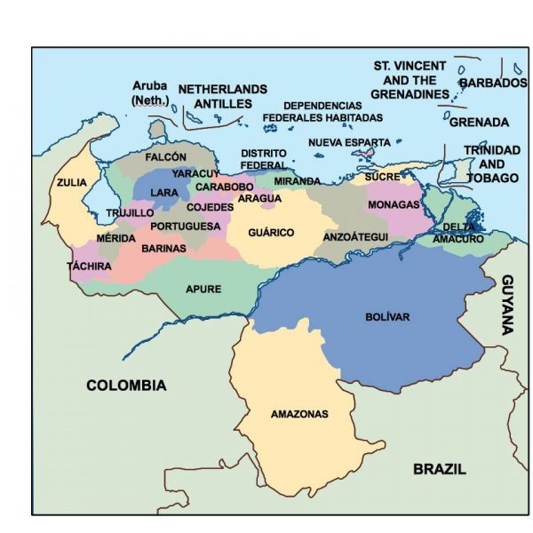 template maps South America Vector Wall Maps made in Barcelona