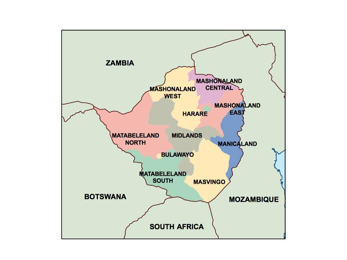 Zimbabwe Presentation Map Vector World Maps