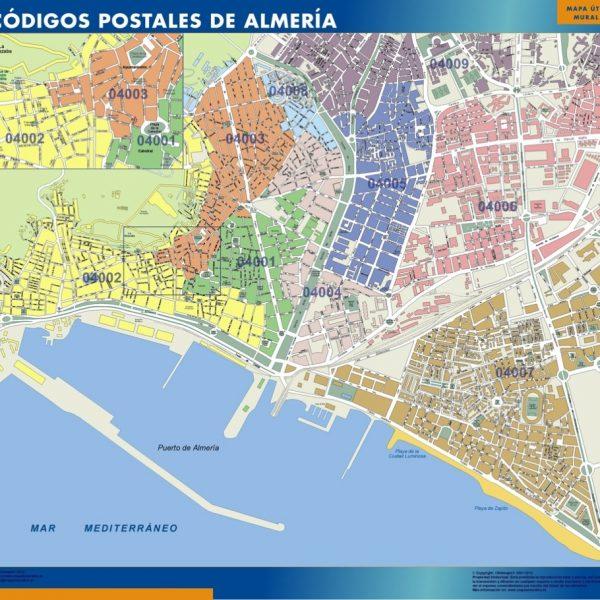 Almeria Codigos Postales mapa magnetico