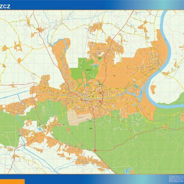 Bydgoszcz Mapy ścienne
