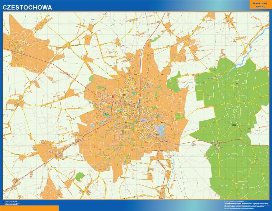 Czestochowa Mapy Scienne Vector World Maps