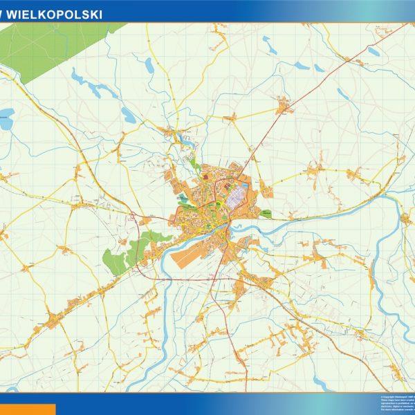 Gorzow Wielkopolski Mapy ścienne
