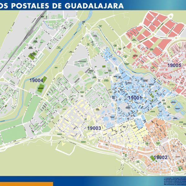 Guadalajara  Codigos Postales mapa magnetico