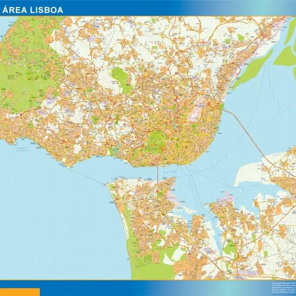 Lisboa Mapa Grande Area Magnetico
