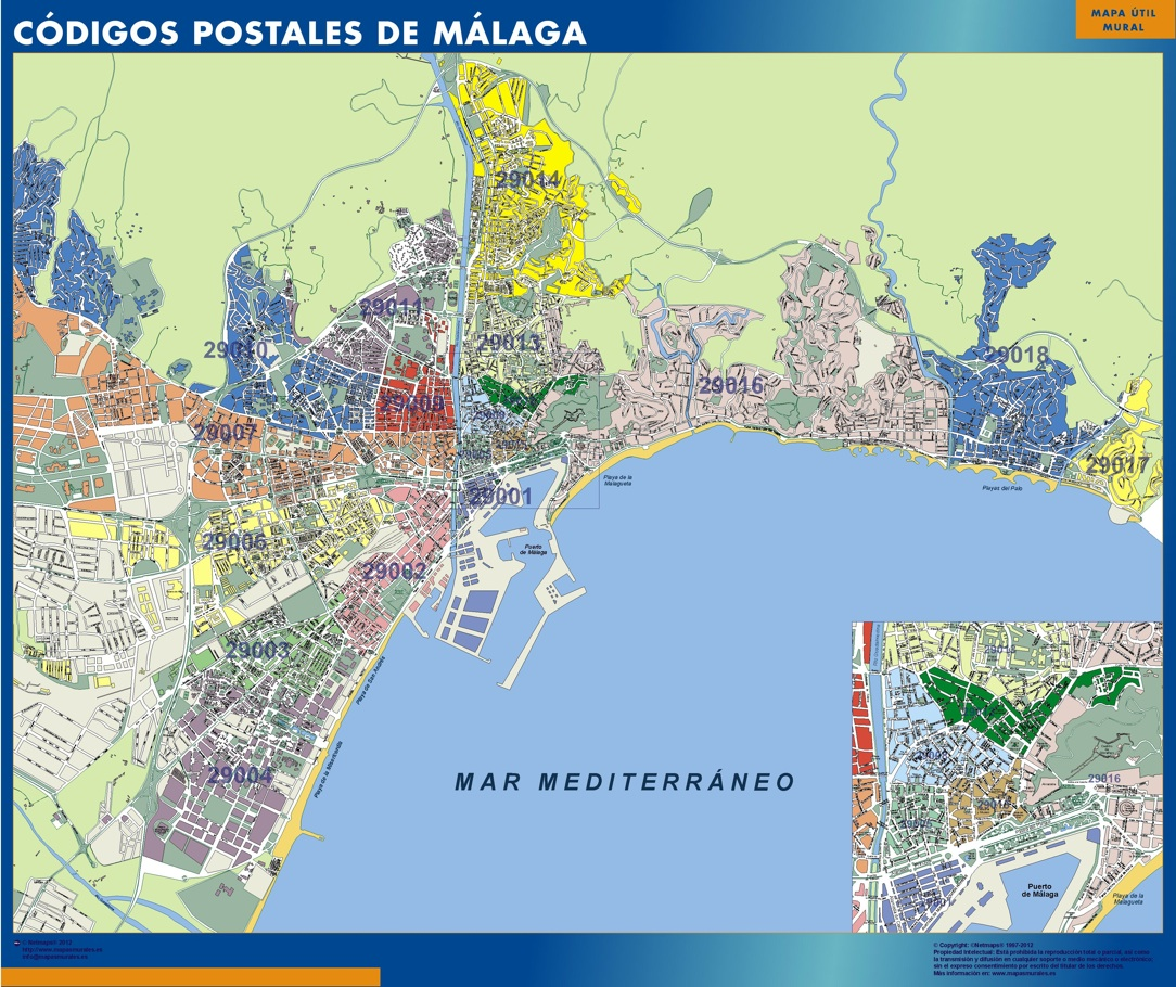 Codigos Postales Barcelona Mapa.Codigos Postales Ciudades Espana Vector Wall Maps From