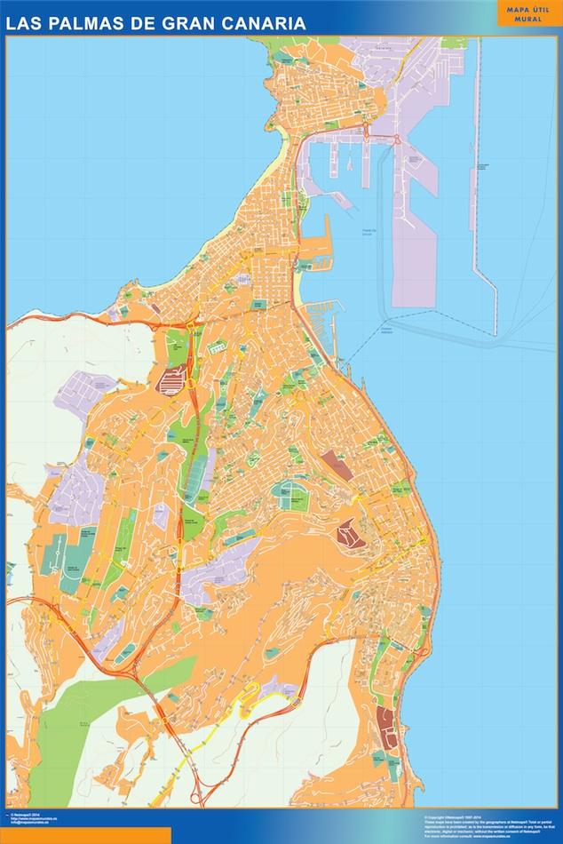 Mapa Magnetico Las Palmas De Gran Canaria Vector World Maps