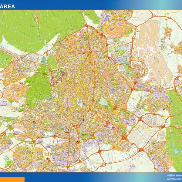 Mapa Magnetico Madrid Area