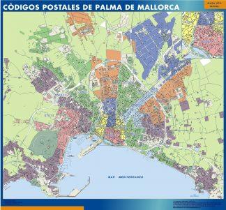 Palma De Mallorca Codigos Postales mapa magnetico | Vector World Maps