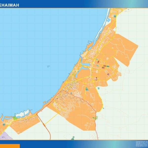Ras Al Khaimah magnetic map