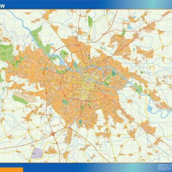 Wroclaw Mapy ścienne