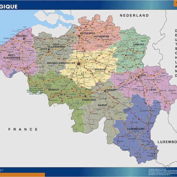 belgium framed maps