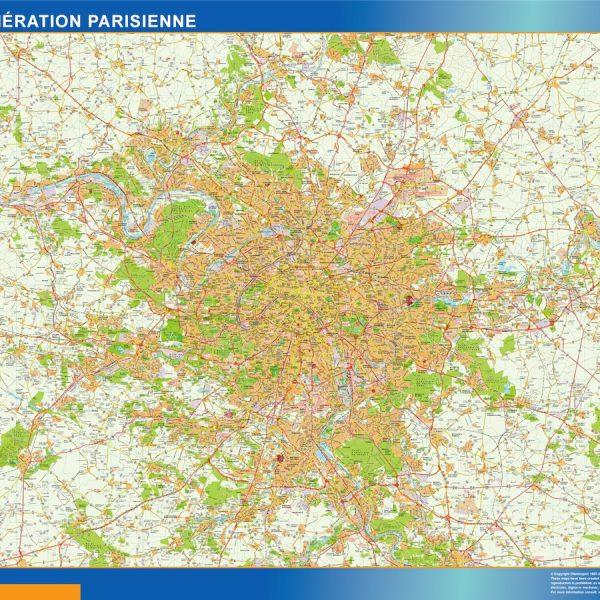 carte magnetique agglomeration parisienne