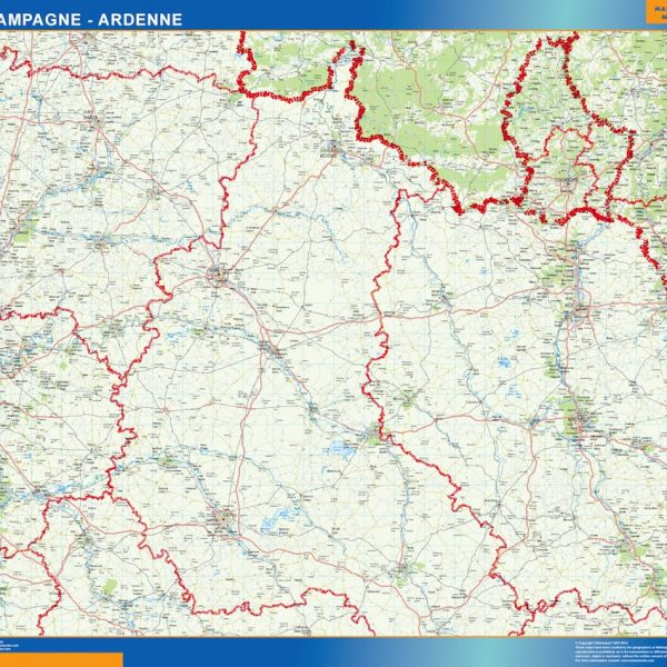 carte magnetique champagne ardenne