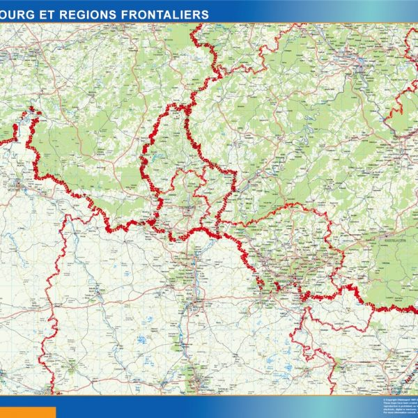 carte magnetique luxembourg regions frontaliers