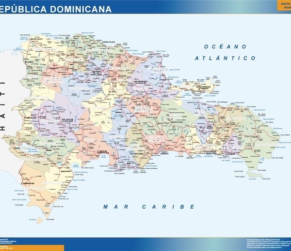 dominican republic vinyl sticker maps