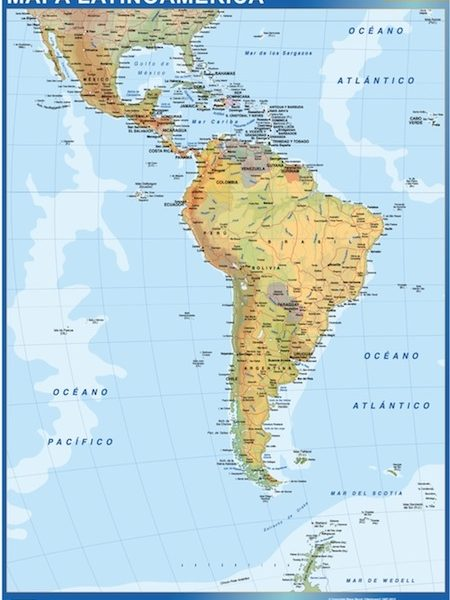 latin america magnetic map