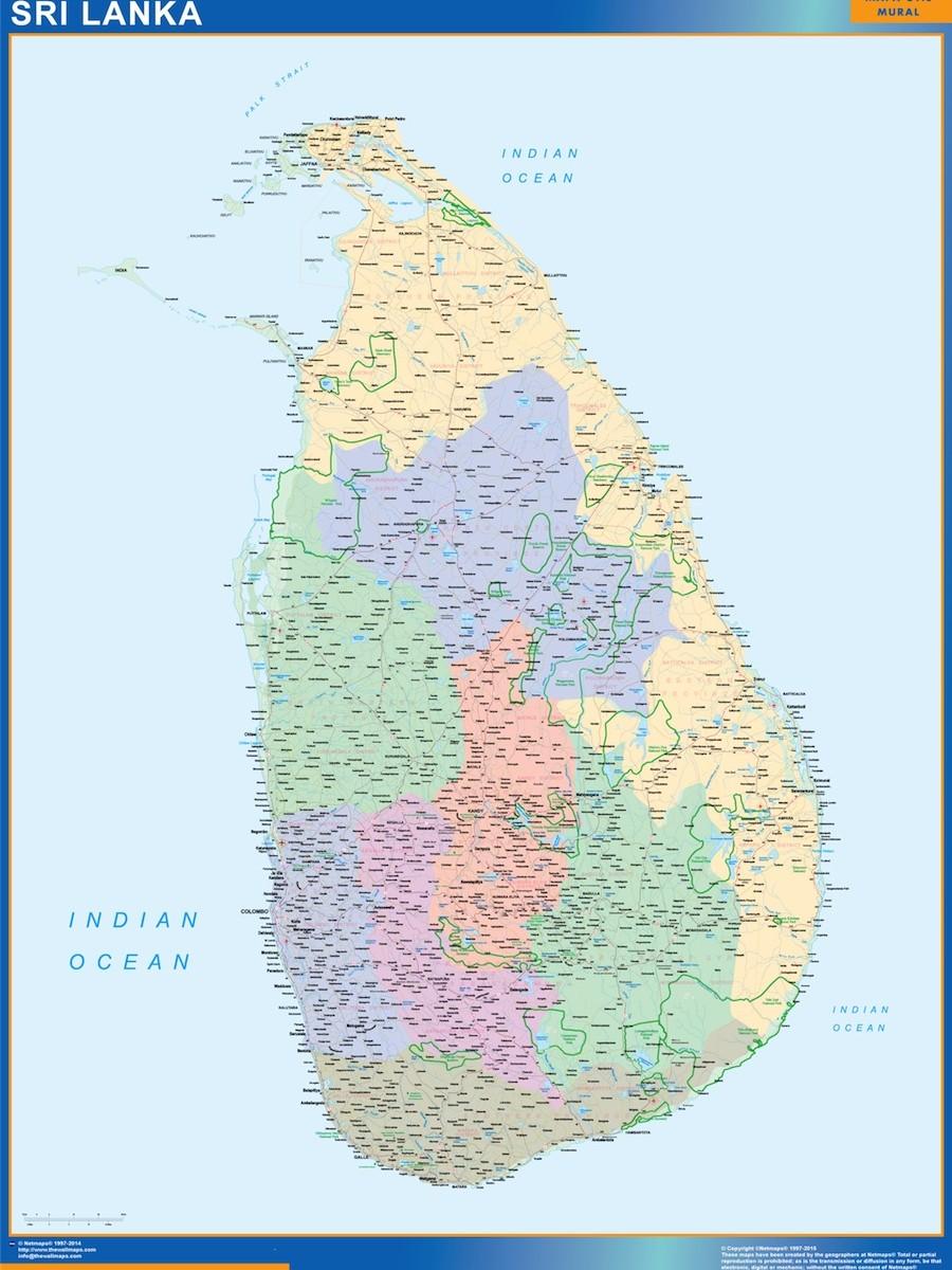 magnetic map Sri Lanka | Vector World Maps