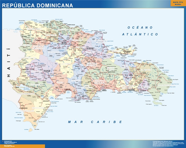 magnetic map dominican republic | Vector World Maps on