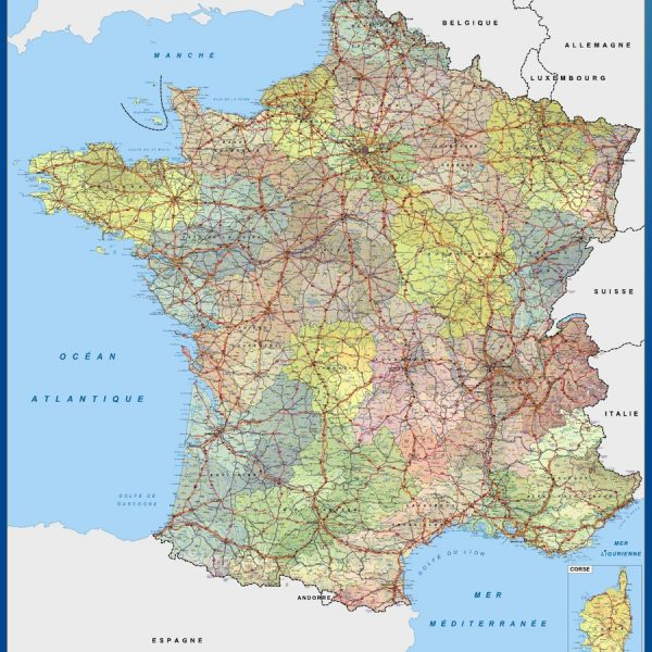 magnetic map france