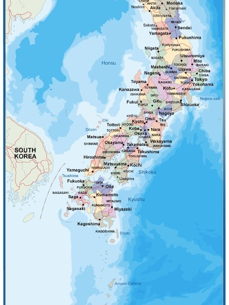 magnetic map japan