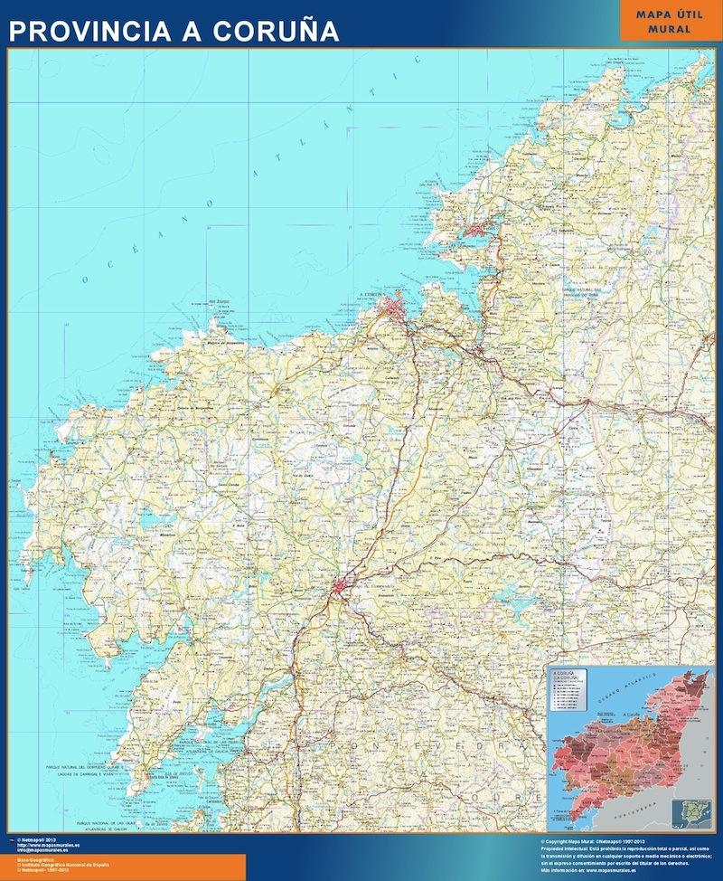 Mapa Provincia A Coruna Magnetico Vector World Maps