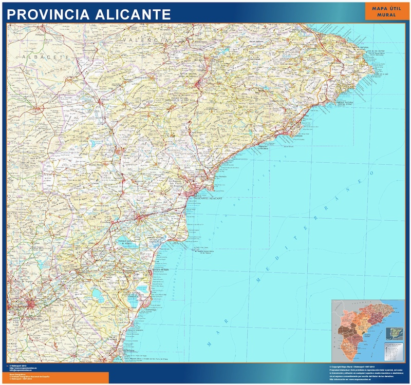 Mapa Provincia Alicante Magnetico Vector World Maps