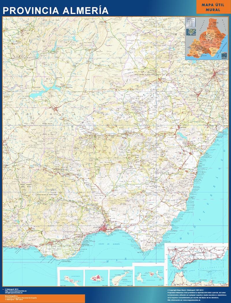 Mapa Provincia Almeria Magnetico Vector World Maps